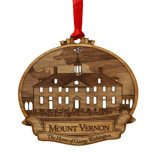 Mount Vernon Alder Wood Ornament - LDA - The Shops at Mount Vernon