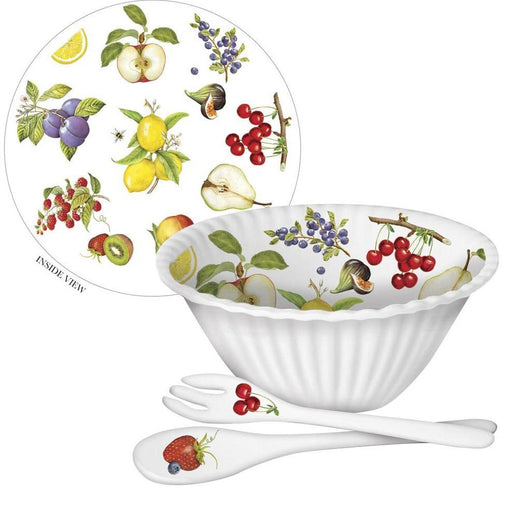 Serving Bowl with Fork & Spoon - MARY LAKE-THOMPSON LTD - The Shops at Mount Vernon