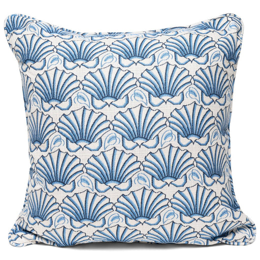 Martha's Shell Blue Self-Welt Pillows - Three Coins Cast - The Shops at Mount Vernon