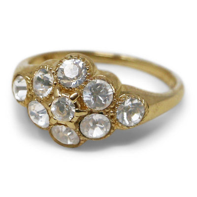 Crystal Martha Washington Gold Ring