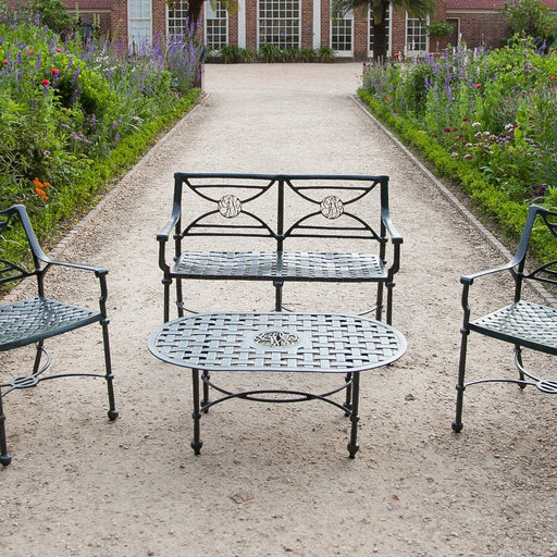 George Washington Cypher Garden Bench - The Shops at Mount Vernon - The Shops at Mount Vernon