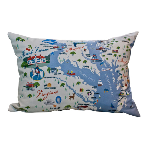 Mount Vernon Chesapeake Bay Pillow - Galleyware - The Shops at Mount Vernon