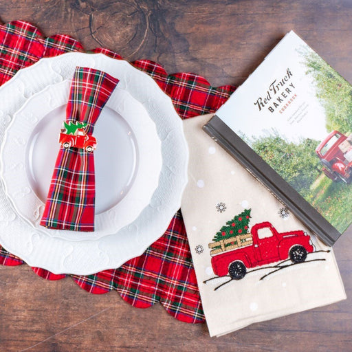 Red Truck Xmas Tree Napkin Ring - C & F ENTERPRISE - The Shops at Mount Vernon