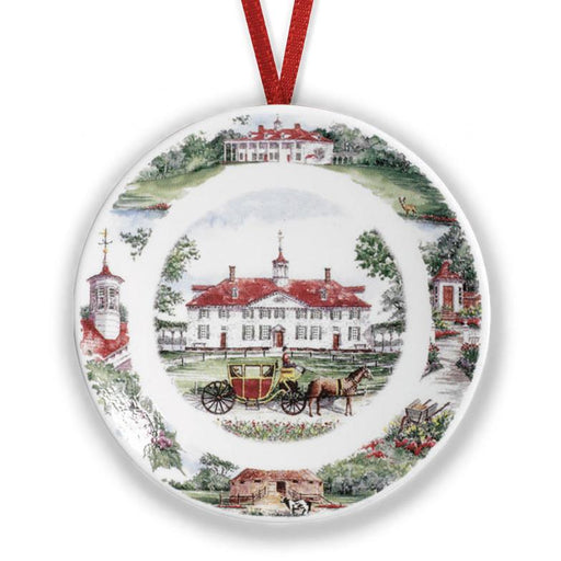 Mount Vernon Scenes Plate Ornament - DESIGN MASTER ASSOCIATES - The Shops at Mount Vernon