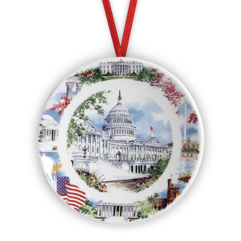 Washington DC Scenes Plate Ornament