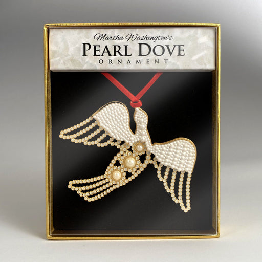 MV Pearl Dove Ornament - DESIGN MASTER ASSOCIATES - The Shops at Mount Vernon