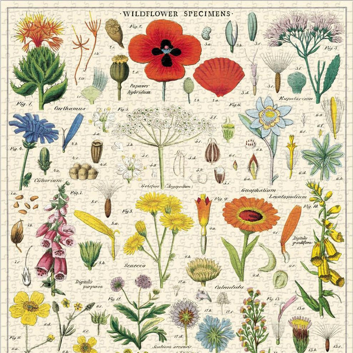 Wildflowers Vintage Puzzle - Cavallini Papers & Co. Inc - The Shops at Mount Vernon