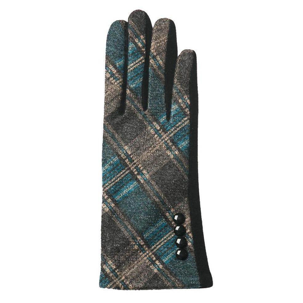 Grey and Teal Gloves - TOP IT OFF - The Shops at Mount Vernon