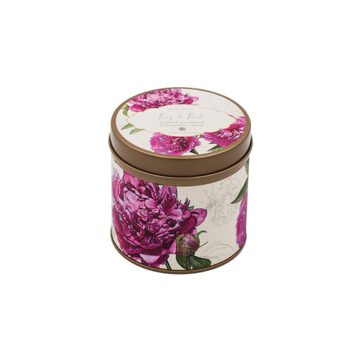 Peony and Pomelo Signature Candle Tin - Rosy Rings - The Shops at Mount Vernon