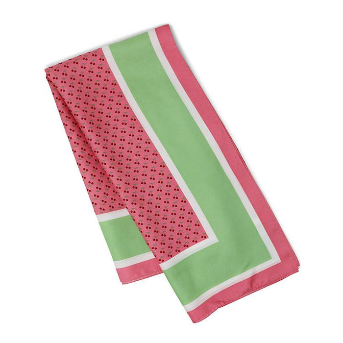Vineyard Vines Cherries Silk Scarf in Pink - The Shops at Mount Vernon - The Shops at Mount Vernon