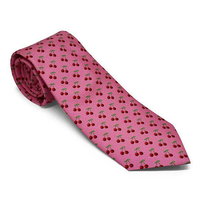 Vineyard Vines Cherry Tie in Pink