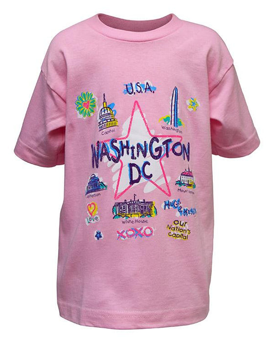 Washington DC Scribble Child's T-Shirt - The Shops at Mount Vernon - The Shops at Mount Vernon