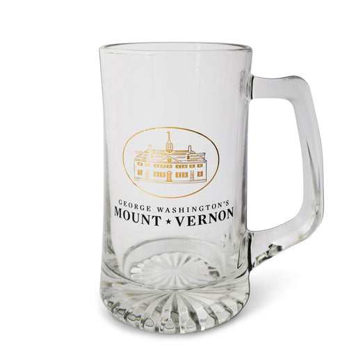 GW's Mount Vernon Clear Beer Stein - CULVER GLASSWARE - The Shops at Mount Vernon