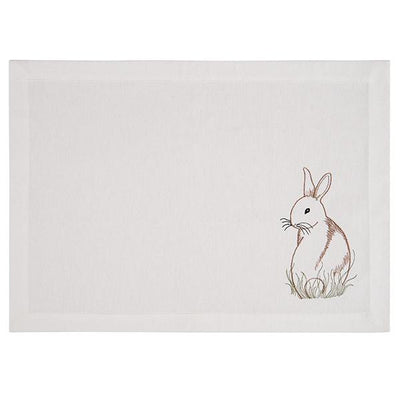 Embroidered Bunny Placemat