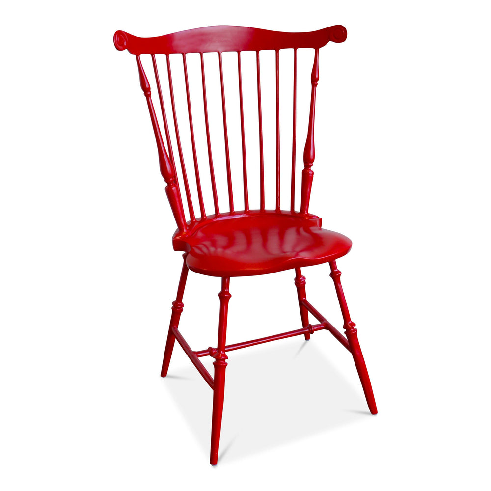 Mount Vernon Red Candy Apple Fan Back Windsor Chair - Three Coins Cast - The Shops at Mount Vernon