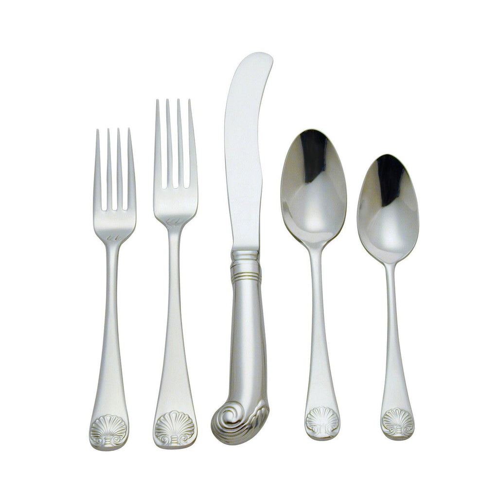 Royal Shell 44-Piece Stainless Steel Flatware