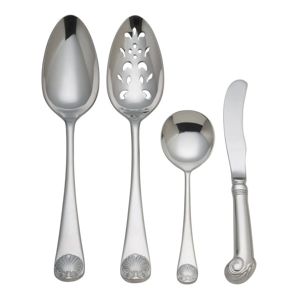 Royal Shell Stainless Steel 4-Piece Hostess Set