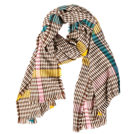 Brown Tartan Raven Scarf - TOP IT OFF - The Shops at Mount Vernon