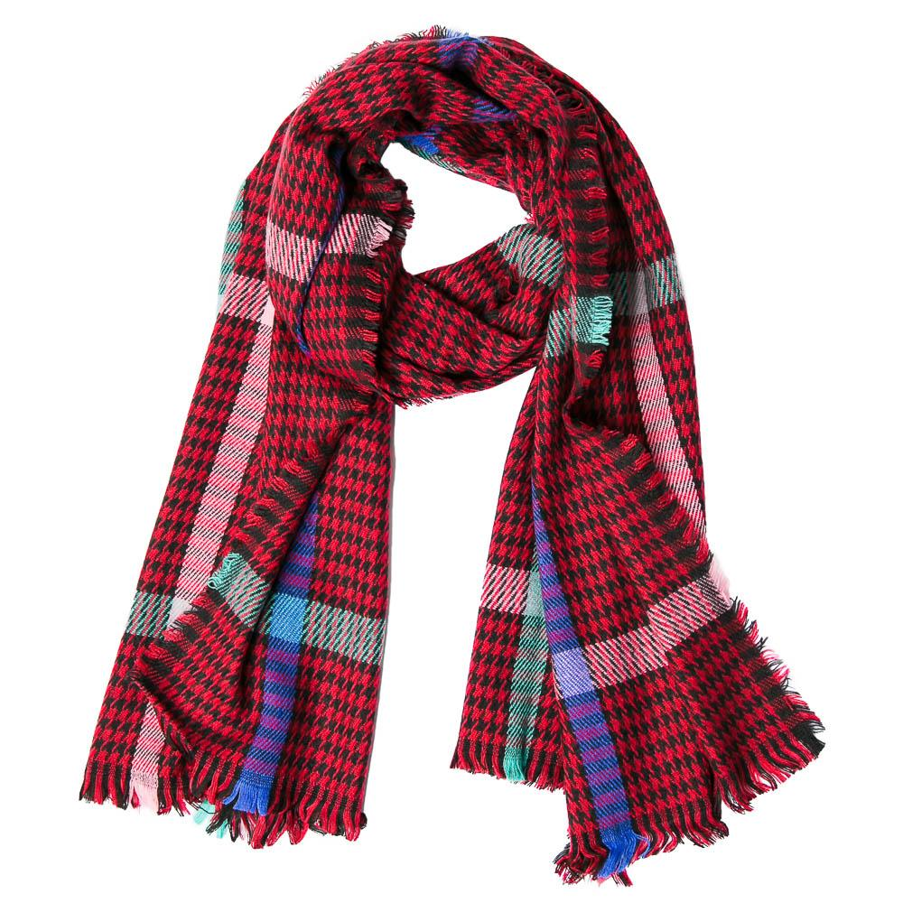 Red Tartan Raven Scarf - TOP IT OFF - The Shops at Mount Vernon