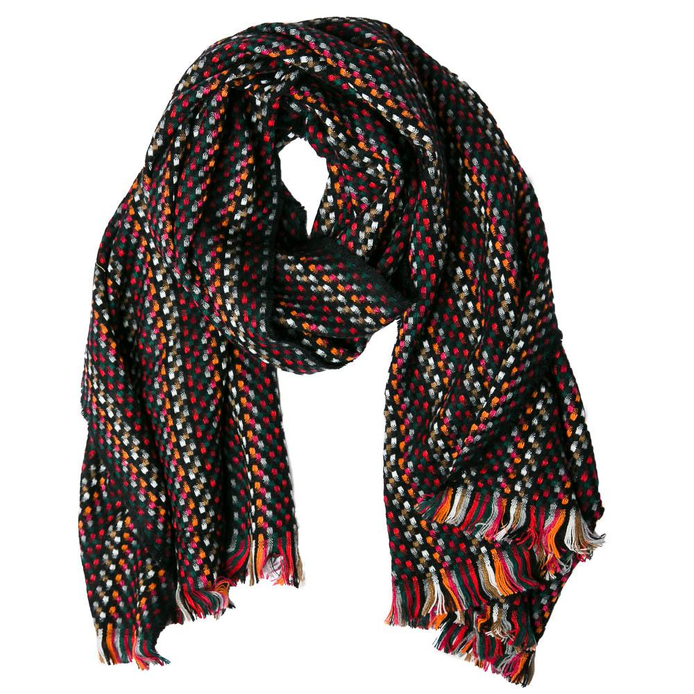 Black Multicolor Carter Scarf - TOP IT OFF - The Shops at Mount Vernon