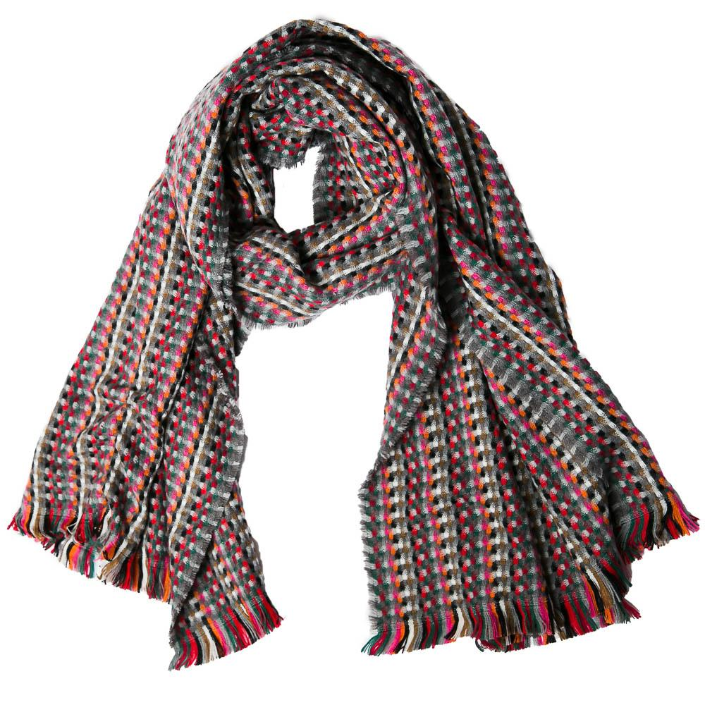 Grey Multicolor Carter Scarf - TOP IT OFF - The Shops at Mount Vernon