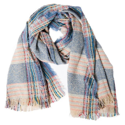 Blue Plaid Vivian Scarf - TOP IT OFF - The Shops at Mount Vernon