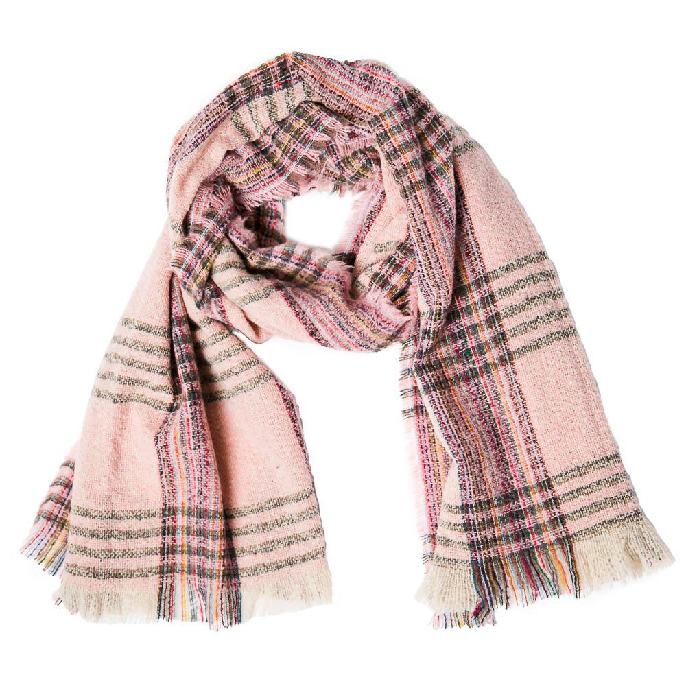 Pink Plaid Vivian Scarf - TOP IT OFF - The Shops at Mount Vernon