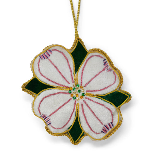 Mount Vernon Embroidered Dogwood Blossom Ornament - ST NICOLAS LTD. - The Shops at Mount Vernon