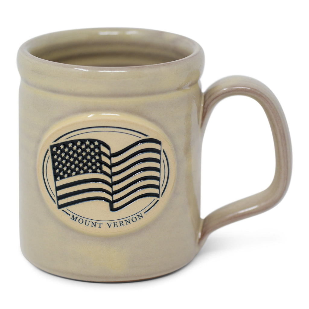 Mount Vernon US Flag Mug in Buttercream