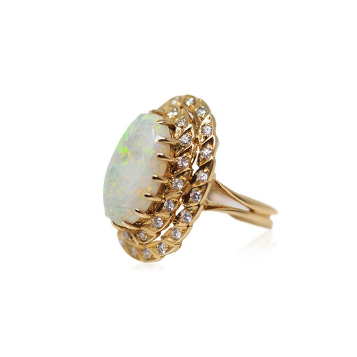 Opal and Diamond Ring - THE ANTIQUE GUILD - The Shops at Mount Vernon