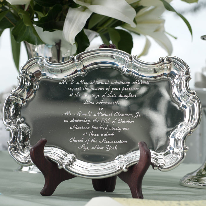 Pewter Invitation Tray - SALISBURY PEWTER - The Shops at Mount Vernon
