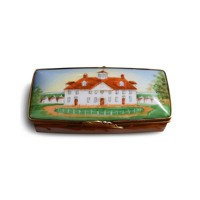 Mount Vernon Limoges Stamp Box - The Shops at Mount Vernon - The Shops at Mount Vernon