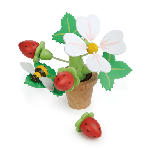 Strawberry Flower Pot Puzzle - Tender Leaf Toys - The Shops at Mount Vernon