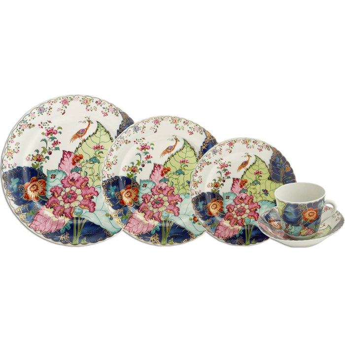 Tobacco Leaf 5-piece Place Setting - MOTTAHEDEH & COMPANY, INC - The Shops at Mount Vernon