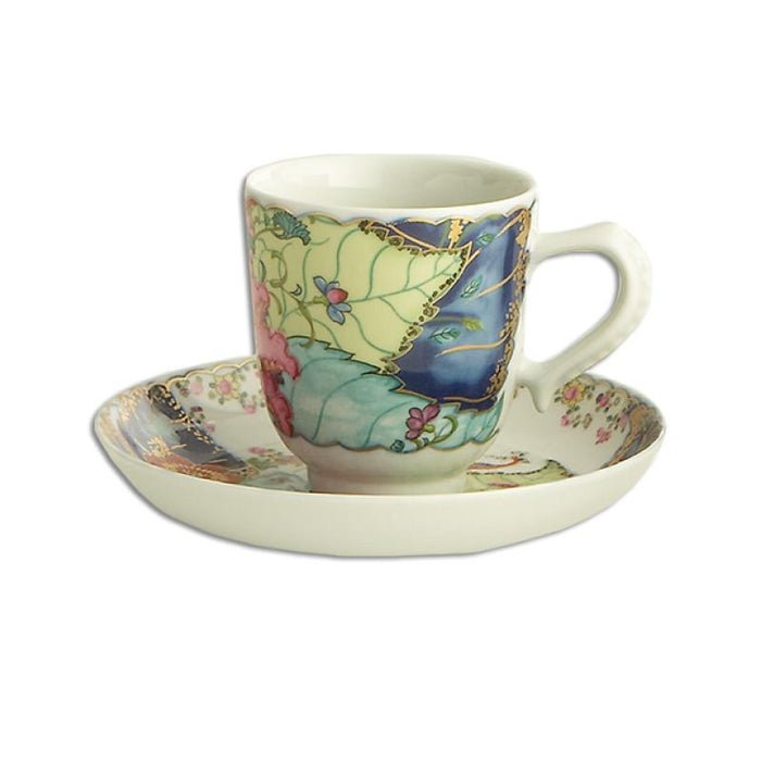 Tobacco Leaf Demitasse Cup & Saucer - MOTTAHEDEH & COMPANY, INC - The Shops at Mount Vernon