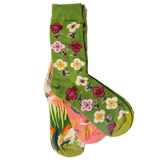 Garden Party Socks - set of 3 - TOP IT OFF - The Shops at Mount Vernon