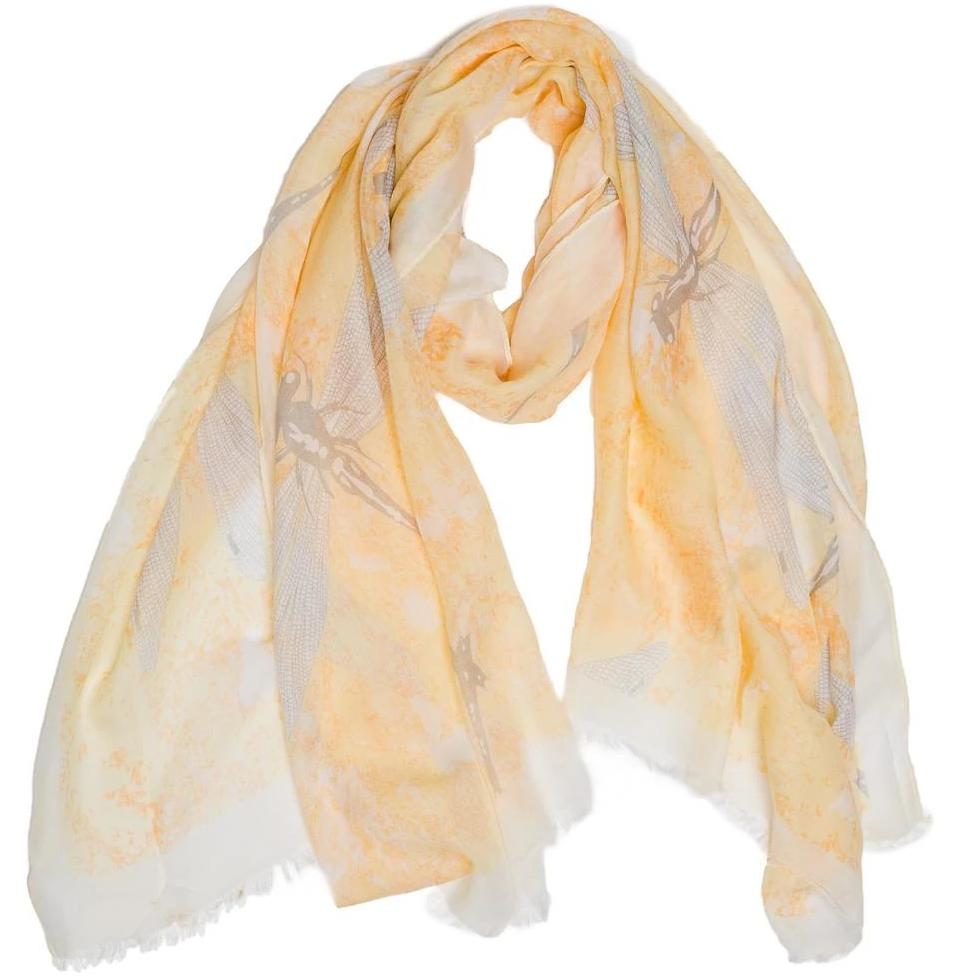 Yellow Dragonfly Scarf - TOP IT OFF - The Shops at Mount Vernon