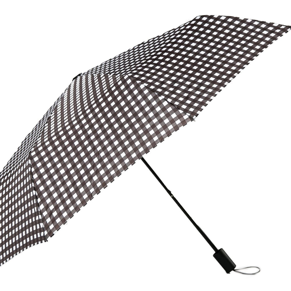 Black & White Check Umbrella - TOP IT OFF - The Shops at Mount Vernon