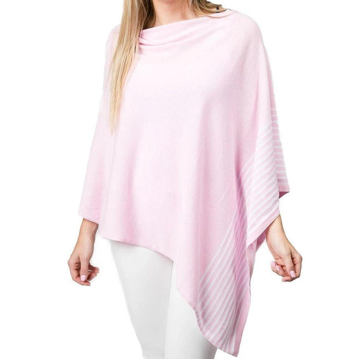 Pink Cotton Stripe Poncho - TOP IT OFF - The Shops at Mount Vernon
