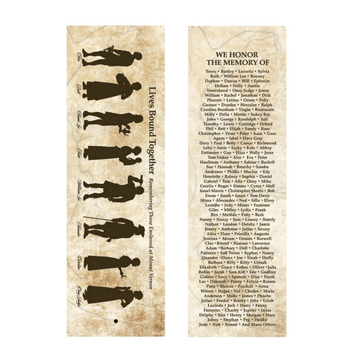 Lives Bound Together Silhouette Bookmark - The Shops at Mount Vernon - The Shops at Mount Vernon