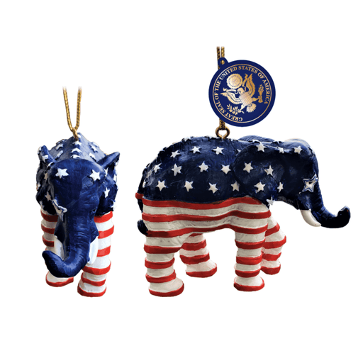 Patriotic Elephant Ornament - CHARLES PRODUCTS INC. - The Shops at Mount Vernon