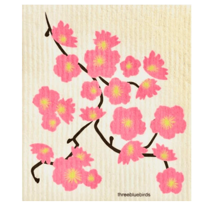 Cherry Blossom Dishcloth - THREE BLUEBIRDS - The Shops at Mount Vernon