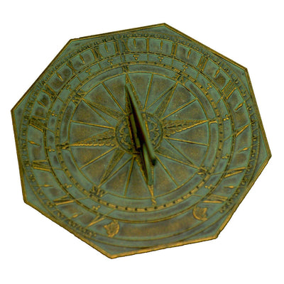 George Washington Sundial in Verdigris Bronze