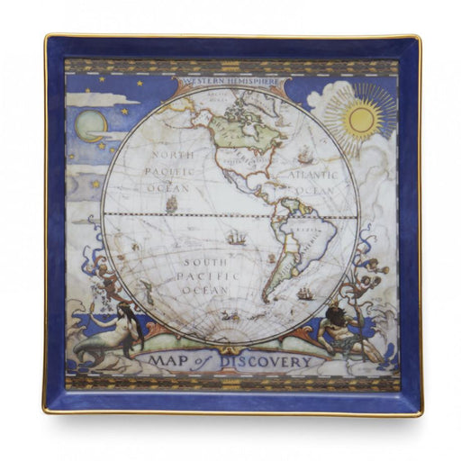 Map of Discovery West Canapé Plate - MOTTAHEDEH & COMPANY, INC - The Shops at Mount Vernon