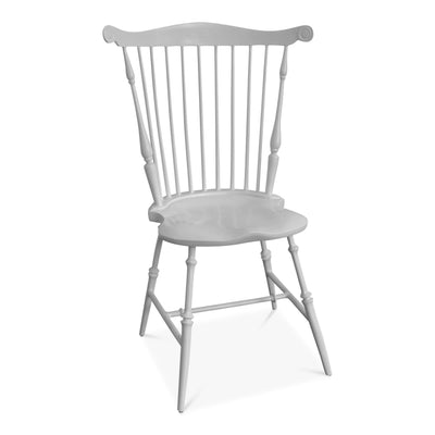 Mount Vernon Smooth White Fan Back Windsor Chair