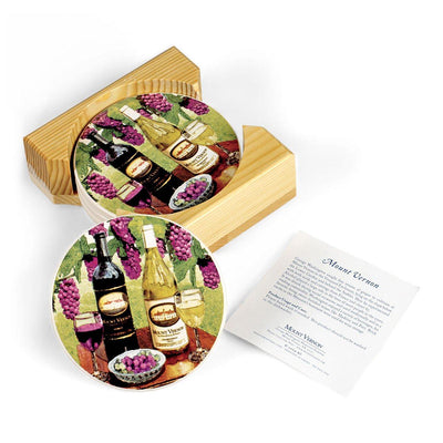 Mount Vernon Wine Ceramic Coasters