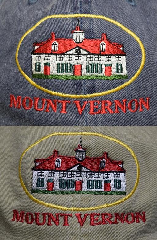 Mount Vernon Mansion Stone Washed Twill Cap - The Shops at Mount Vernon - The Shops at Mount Vernon
