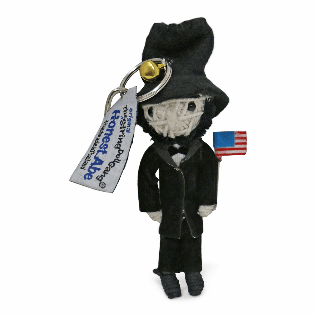 Abraham Lincoln String Doll Keychain
