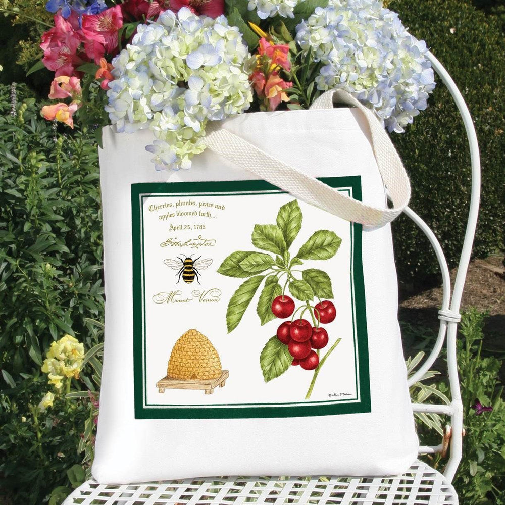 Bee and Cherries Tote Bag - The Shops at Mount Vernon - The Shops at Mount Vernon