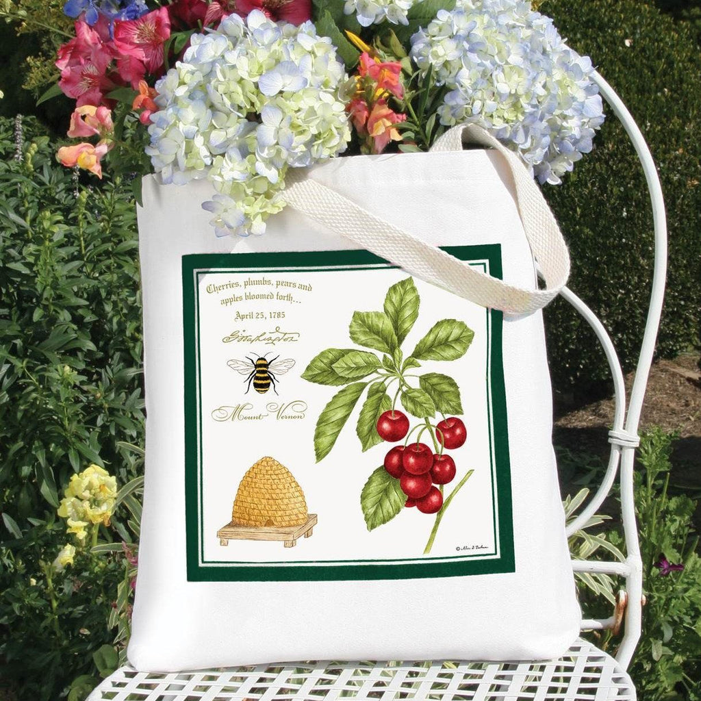 Bee and Cherries Tote Bag